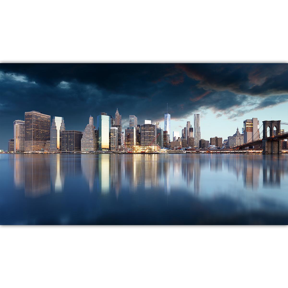 Lac avec ville de new york for Ville a new york